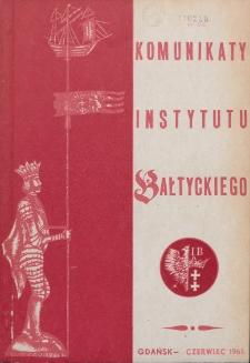 Komunikaty Instytutu Bałtyckiego, [z.2]