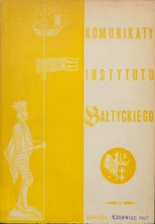 Komunikaty Instytutu Bałtyckiego, z.6