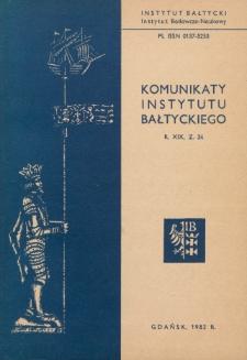 Komunikaty Instytutu Bałtyckiego, z.34