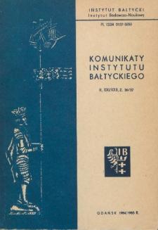 Komunikaty Instytutu Bałtyckiego, z.36/37