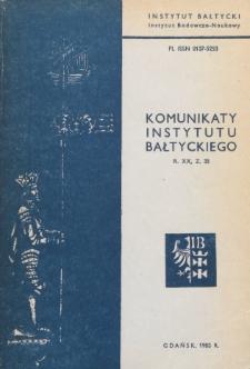 Komunikaty Instytutu Bałtyckiego, z.35
