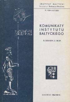 Komunikaty Instytutu Bałtyckiego, z.38/39