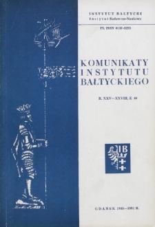 Komunikaty Instytutu Bałtyckiego, z.40