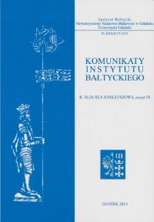 Komunikaty Instytutu Bałtyckiego, z.50