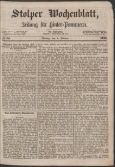 Stolper Wochenblatt. Zeitung für Hinterpommern № 14