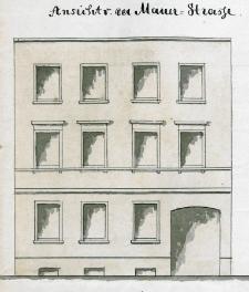 Dokumentacja techniczna budynku przy dawnej ulicy Mühlenthormauer 25 - ulica nie istnieje