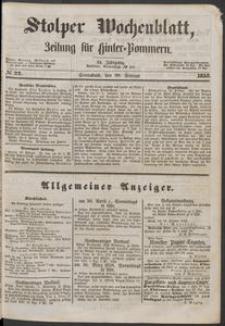 Stolper Wochenblatt. Zeitung für Hinterpommern № 22