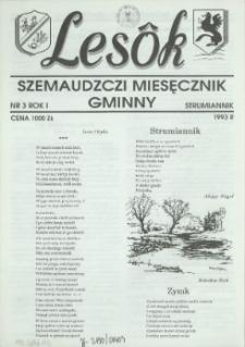 Lesôk Szemaudzczi Miesęcznik Gminny, 1993, strumiannik, Nr 3