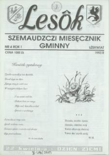 Lesôk Szemaudzczi Miesęcznik Gminny, 1993, łżekwiat, Nr 4