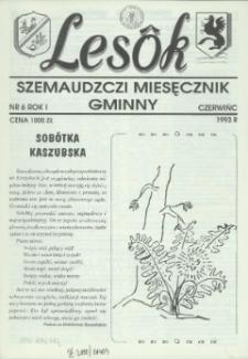 Lesôk Szemaudzczi Miesęcznik Gminny, 1993, czerwińc, Nr 6
