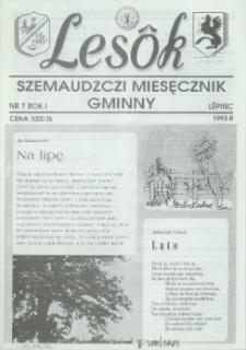 Lesôk Szemaudzczi Miesęcznik Gminny, 1993, lëpińc, Nr 7