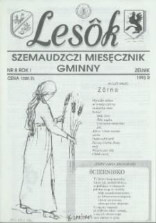 Lesôk Szemaudzczi Miesęcznik Gminny, 1993, zélnik, Nr 8