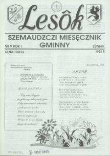 Lesôk Szemaudzczi Miesęcznik Gminny, 1993, sëwnik, Nr 9