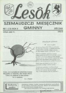 Lesôk Szemaudzczi Miesęcznik Gminny, 1994, stëcznik, Nr 1 (13)