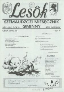 Lesôk Szemaudzczi Miesęcznik Gminny, 1994, strumiannik, Nr 3 (15)
