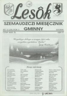 Lesôk Szemaudzczi Miesęcznik Gminny, 1994, godnik, Nr 12 (24)