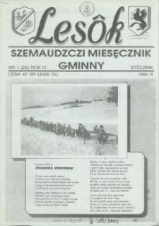 Lesôk Szemaudzczi Miesęcznik Gminny, 1995, stëcznik, Nr 1 (25)