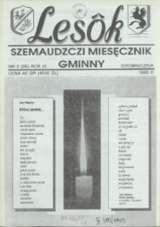 Lesôk Szemaudzczi Miesęcznik Gminny, 1995, gromnicznik, Nr 2 (26)