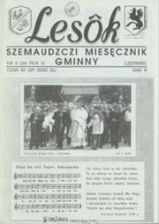 Lesôk Szemaudzczi Miesęcznik Gminny, 1995, czerwińc, Nr 6 (30)