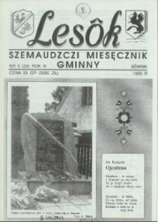 Lesôk Szemaudzczi Miesęcznik Gminny, 1995, sëwnik, Nr 9 (33)
