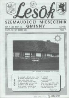 Lesôk Szemaudzczi Miesęcznik Gminny, 1996, lëpińc, Nr 7 (40)