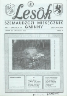 Lesôk Szemaudzczi Miesęcznik Gminny, 1996, listopadnik, Nr 11 (44)