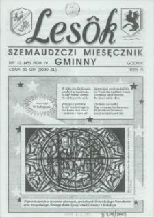 Lesôk Szemaudzczi Miesęcznik Gminny, 1996, godnik, Nr 12 (45)