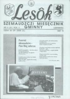 Lesôk Szemaudzczi Miesęcznik Gminny, 1997, czerwińc, Nr 6 (51)