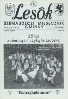 Lesôk Szemaudzczi Miesęcznik Gminny, 1998, czerwińc, Nr 6 (63)