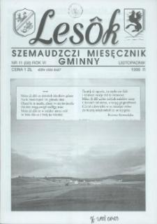 Lesôk Szemaudzczi Miesęcznik Gminny, 1998, listopadnik, Nr 11 (68)