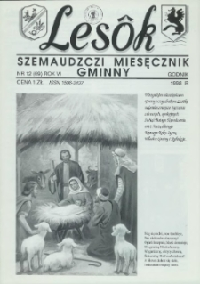 Lesôk Szemaudzczi Miesęcznik Gminny, 1998, godnik, Nr 12 (69)