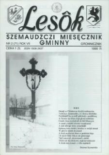 Lesôk Szemaudzczi Miesęcznik Gminny, 1999, gromnicznik, Nr 2 (71)
