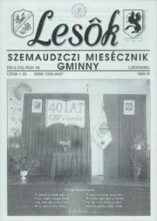 Lesôk Szemaudzczi Miesęcznik Gminny, 1999, czerwińc, Nr 6 (75)