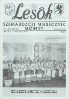 Lesôk Szemaudzczi Miesęcznik Gminny, 1999, listopadnik, Nr 11 (80)