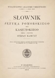 Słownik języka pomorskiego czyli kaszubskiego