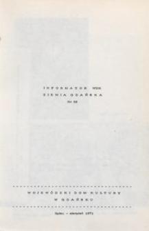 Informator WDK : Ziemia Gdańska, 1971, nr 88