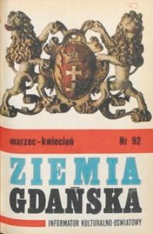 Informator WDK : Ziemia Gdańska, 1972, nr 92