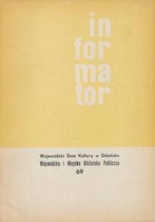 Informator / Wojewódzki Dom Kultury w Gdańsku, 1968, nr 69