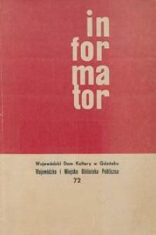 Informator / Wojewódzki Dom Kulturyw Gdańsku, 1968, nr 72
