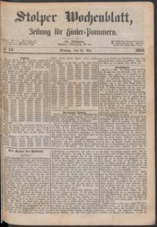 Stolper Wochenblatt. Zeitung für Hinterpommern № 54