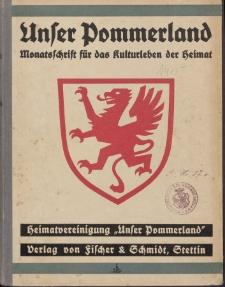 Unser Pommerland : Monatsschrift für das Kulturleben der Heimat, 1935, Nr. 1