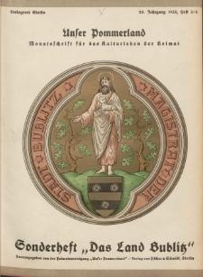 Unser Pommerland : Monatsschrift für das Kulturleben der Heimat, 1935, Nr. 3/4