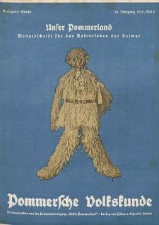 Unser Pommerland : Monatsschrift für das Kulturleben der Heimat, 1935, Nr. 5