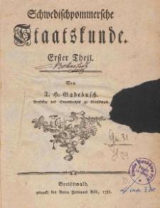 Schwedischpommersche Staatskunde Cz. 1