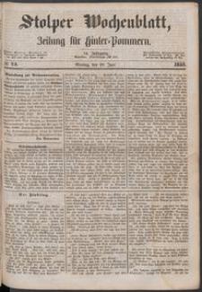 Stolper Wochenblatt. Zeitung für Hinterpommern № 74