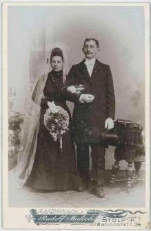 Zdjęcie małżeństwa - zdjęcie ślubne, portret całopostaciowy