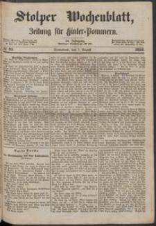 Stolper Wochenblatt. Zeitung für Hinterpommern № 91