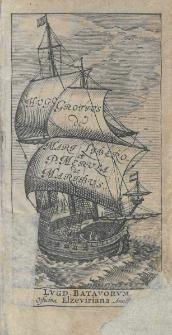 Hvgo Grotivs de Mari Libero et P. Mervula de Maribvs Lugd. Batavorum