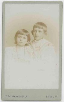 Zdjęcie dwojga dzieci - popiersie