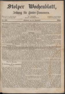Stolper Wochenblatt. Zeitung für Hinterpommern № 111